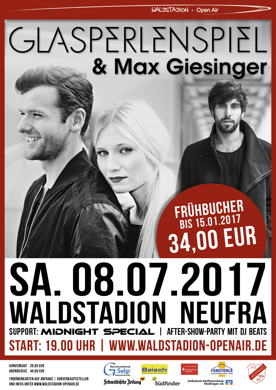 Glasperlenspiel und Max Giesinger: Open Air, Neufra, 08.07